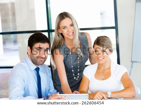 Business people working together in office #262606454