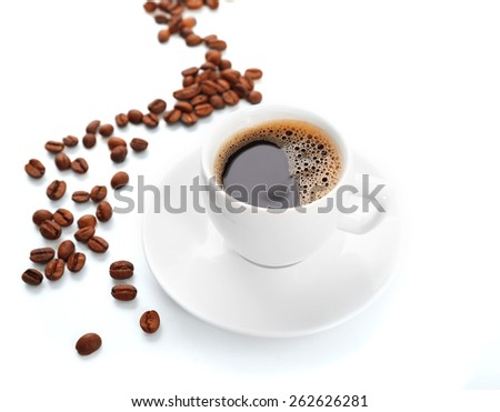 Cup of coffee isolated on white #262626281