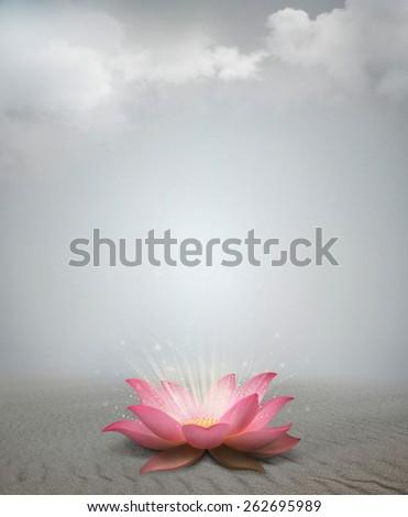 Lotus in desert