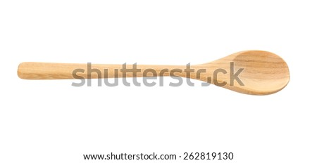 wooden spoon isolated over white. #262819130