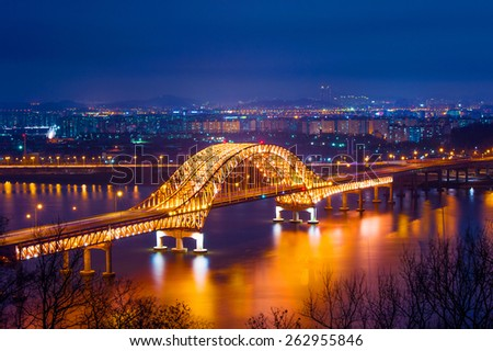 Banghwa bridge at night,Korea #262955846