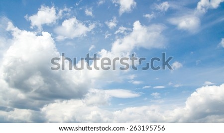 blue sky with cloud closeup #263195756