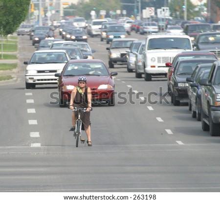 commuter on bike #263198