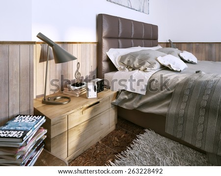 Bedroom contemporary style. 3D render #263228492