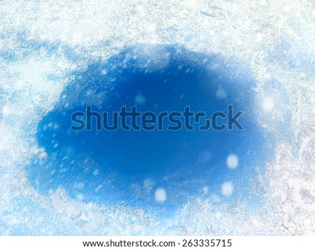 Frozen Glass with the Thawed Hole #263335715