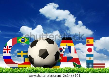 Goal. soccer world flags #263466101