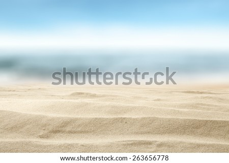 summer background of sand and sky  #263656778