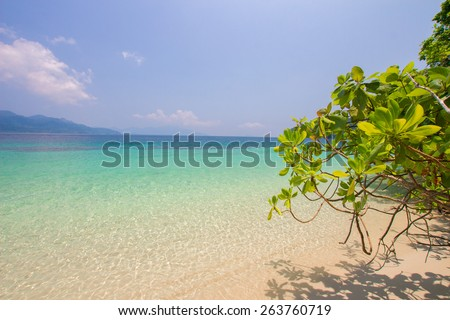 sea in Thailand - Stock Image
