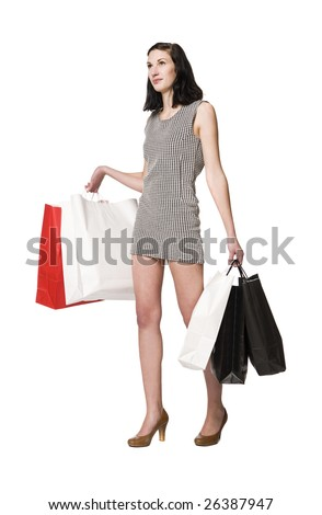 Woman with shopping-bags #26387947