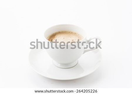 a cup of coffee on white #264205226