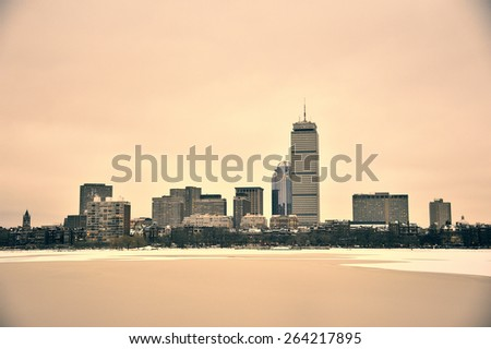 Fine art image of Boston Harbor
