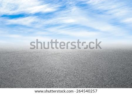 new asphalt road and sky #264540257