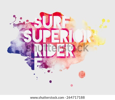 vector illustration watercolor on a transparent background wave surfing cool style, graphics design for t-shirts,vintage graphic design