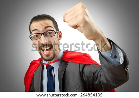 Superman isolated on the white background #264854135