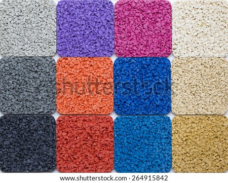Examples of rubber flooring
