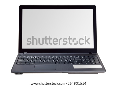Electronic collection - Modern laptop isolated on a white background #264931514
