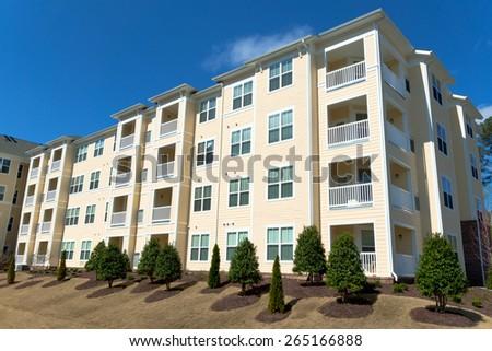 Typical suburban apartment building #265166888