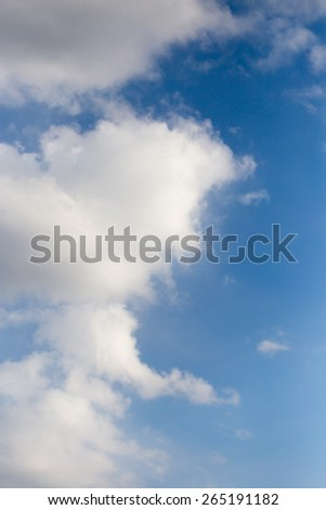 clouds in the blue sky as background #265191182