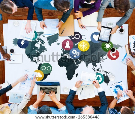 Global Communications Social Networking Connection Concept #265380446