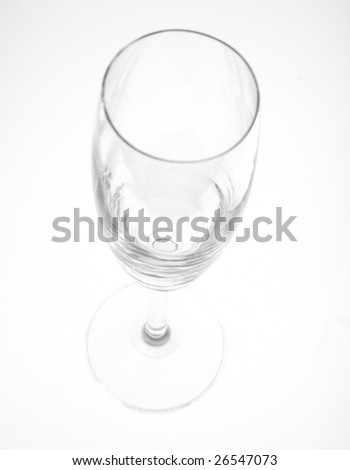 An empty wine glass isolated on white background #26547073
