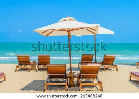 Bed beach on tropical beach #265488248