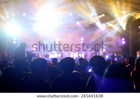 a crowd of cheering fans during a live concert #265641638