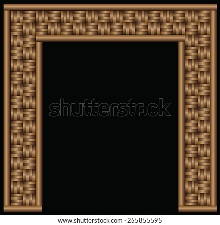 Abstract decorative wooden striped textured basket weaving background. #265855595