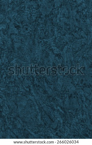 Photograph of Recycle Striped Navy Blue Pastel Paper, bleached, mottled, coarse grain, grunge texture sample. #266026034