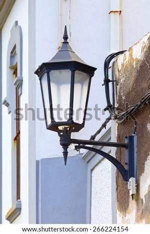 Street lamp  in city Garachico, Tenerife, Canary Islands, Spain. #266224154
