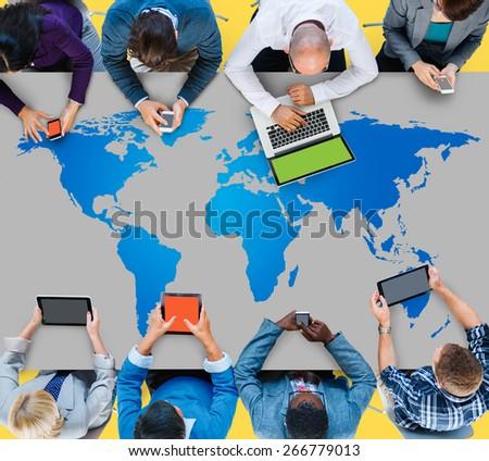 World Global Cartography Globalization Earth International Concept #266779013