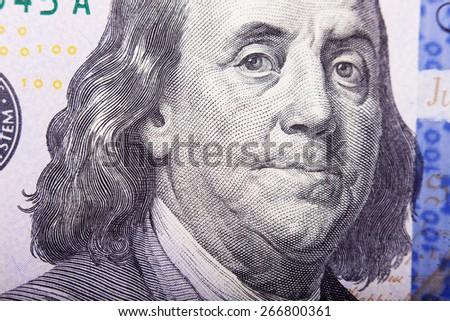 Franklin's eyes on a dollar bill #266800361