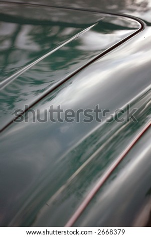 Abstract detail of classic British car trunk #2668379