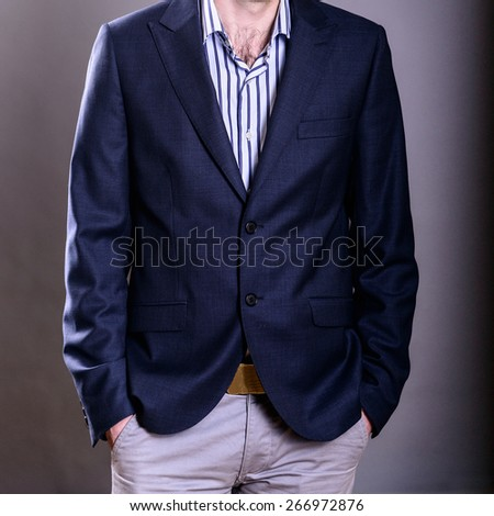 business and office concept handsome buisnessman in suit #266972876
