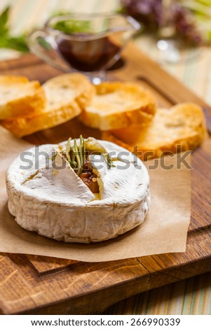 Baked Camembert cheese #266990339