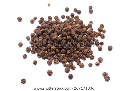 Pepper corns isolated on white background #267171836