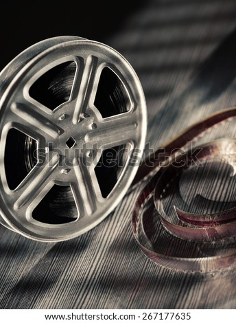 Motion picture film reel on the table #267177635