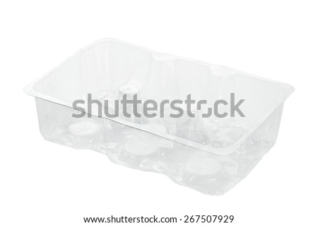Plastic container for food isolated on white background. #267507929