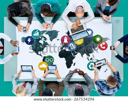 Global Communications Social Networking Connection Concept #267534296