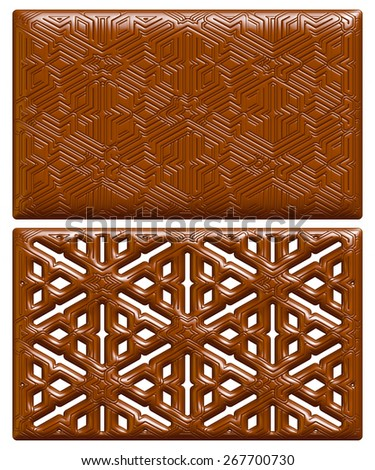 Vintage chocolate abstract background. #267700730