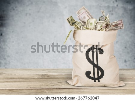 Money Bag, Currency, Paper Currency. #267762047