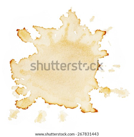 Stains of coffee isolated on white background Royalty-Free Stock Photo #267831443