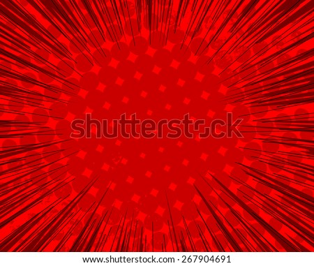 Halftone Sunburst Background