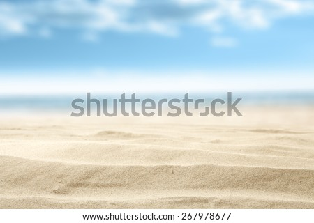 summer sand and free space with blue sky decoration  #267978677