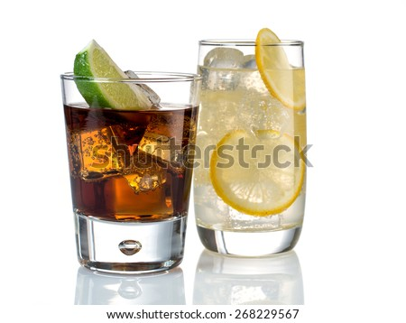 Gin tonic and whiskey cola #268229567
