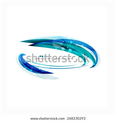 Blue business corporate professional wave line background #268230293