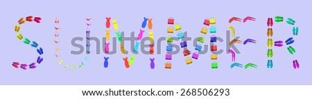 summer lettering letters vector #268506293