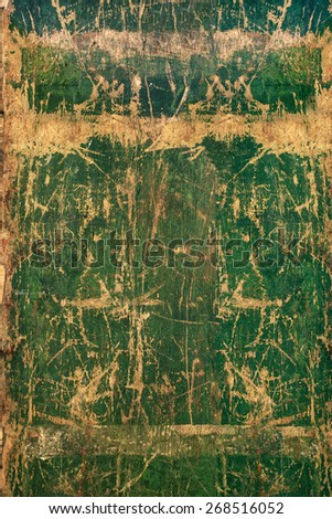 Old green rustic wood background, wooden surface with copy space #268516052