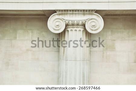 Antique column in doric style closeup #268597466