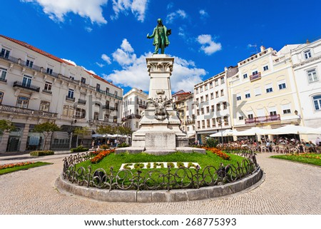 Joaquim Antonio de Aguiar monument at Largo da Portagem in Coimbra, Portugal. He was a prominent Portuguese politician. #268775393