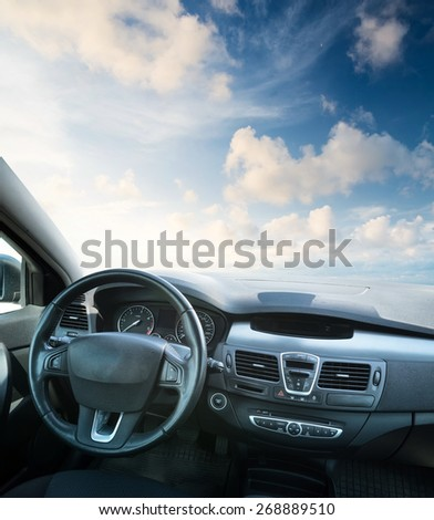 Car inside composition. Concept and idea #268889510